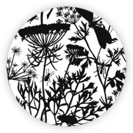 Sticker Botanical / zwart wit / 10 stk