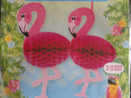 Honeycomb Flamingo / set 2stks