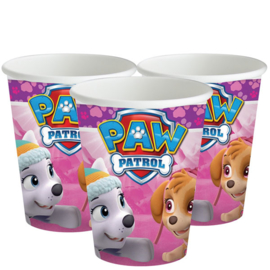Pink Paw Patrol / kinderfeest bekers
