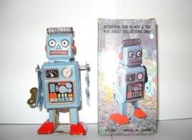 ME Robot met spiraalhaar