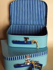 Kinderkoffertje | Blauw  in 2 maten
