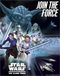 "Star Wars Clone Wars ""join the force ""  / uitnodigingen"