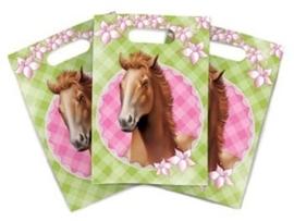 Paarden / kinderfeest uitdeel zakjes / 6 stk