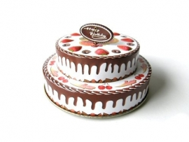 Muziekdoosje /  Verjaardags taart / met kaarsjes