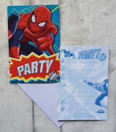 Uitnodigingen / Spidermano / kinderfeestje