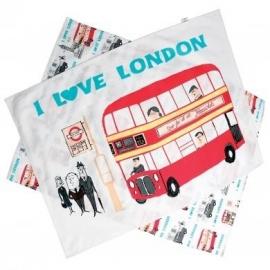 """Set van 2 """"I love London"""" keukendoeken"""