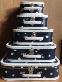 Kinder Koffertje / blauw met witte sterren