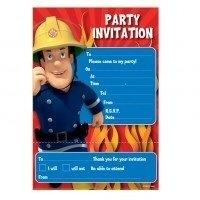 Brandweerman Sam / Feest uitnodigingen