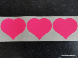 Sticker Hart Pink / 32mm / 20stk