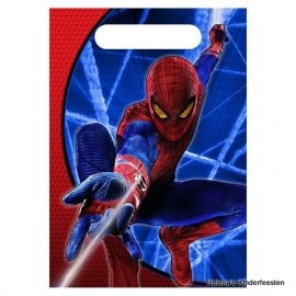 traktatie zakjes /  Spiderman feest