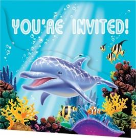 Oceaan / Onderwater / kinderfeest uitnodigingen