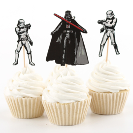Star Wars prikkers / cupcake / 24 stk