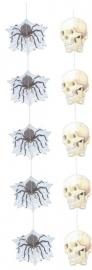 Hangdecoratie / spin en doodshoofd