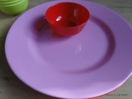 MM Melanie groot serveer bord roze
