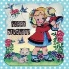 Kaart / Dolly girl / happy birthday