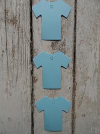 Labels Baby truitje blauw / 20stk