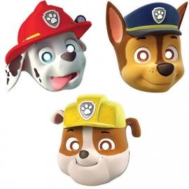 Paw Patrol / kinderfeest maskers / 8stk