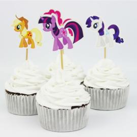 Cupcake prikker - topper / My little pony / 12 stk