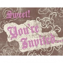 Sweet Sixteen uitnodigingen