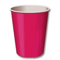 SE Beker effen Hot Pink
