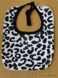 Slabbetje - Baby Slab zwart/wit Luipaard