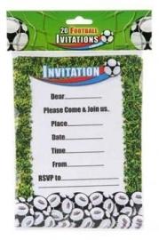Uitnodigingen  /  Voetbal  goal