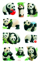 Panda's beer stickers