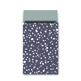 Cadeauzakje | Snow Flow - diepblauw | 17 x 25 cm | 5 stk