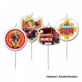 Brandweerman Sam / feest kaarsjes