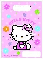 Hello Kitty, flower , kinderfeest zakjes