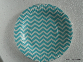 TI Papieren bordjes chevron mint