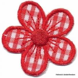 FG Applicatie geruite bloem rood