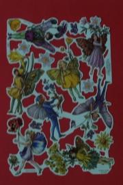 ME 2095 Poezie plaatjes bloemen elfjes geel