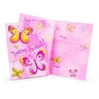 Uitnodigingen Vlinder libelle kinderfeest