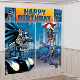 Batman / feest muur decoratie set