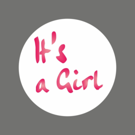 "Stickers / ""It's a Girl"" / foil / 20 stk"