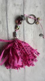 TI Tas / sleutel hanger BONFIM roze