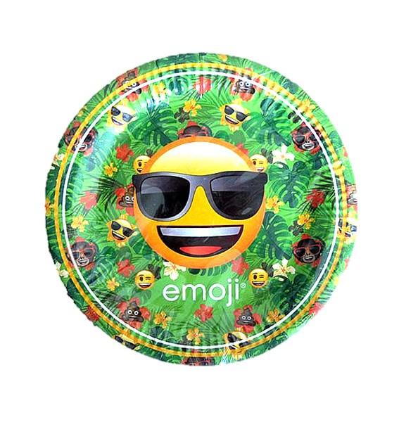 Emoji feest borden 23 cm