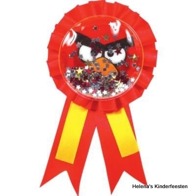 PP Angry Birds party ribbon