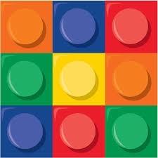 Block / bouwstenen - lego feest servetten