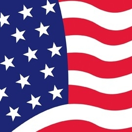 PP American flag party servetten klein