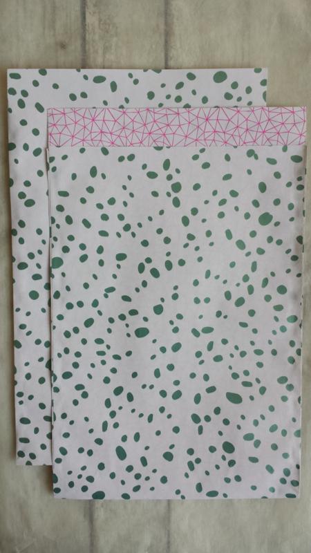 Zakje floral statement flow / 17 x 25 cm / 5stk