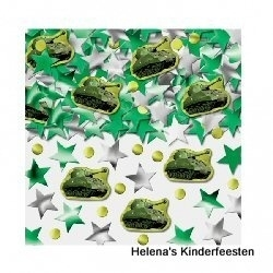Camouflage / feest tafel confetti