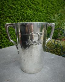 UNIEK:  antieke verzilverde Champagne koeler uit 1910