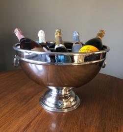 Schitterende oude verzilverde Art deco champagnekoeler voor 5-6 flessen