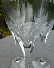 Zeer bijzondere oude kristallen champagne glazen