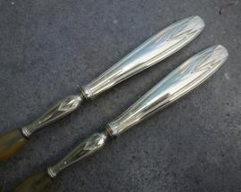 Schitteren oud verzilverd Art Deco slabestek no 57