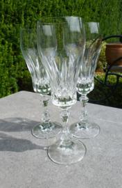 Schitterende zeer oude geslepen kristallen champagne glazen