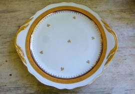 ZELDZAAM : Antiek eet - vis en ontbijtservies Limoge vuurverguld en hand beschilderd