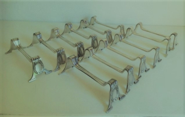 Anieke zwaar verzilverde messenleggers Louis XV  - 12 stuks